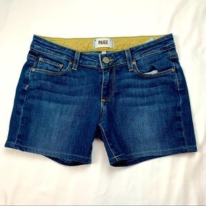 Paige Medium Wash Denim Shorts Size 24